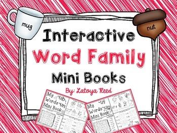 Interactive Word Family Mini Books Short U
