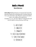 """Interactive Word Review - """"Roll a Word"""" Dice Game!"""