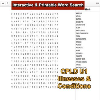 Interactive Word Search for BTEC Level 2 CPLD Unit 1