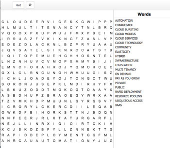 Interactive Word Searches & Crossword L3 Infrastructure Technician (6 products)