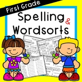 Journeys First Grade Spelling and Word Sorts Differentiated Entire Year!