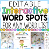 Interactive Word Spots for any Word List {Editable}