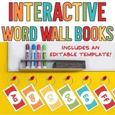 Interactive Word Wall Books - 345 Word Cards, Covers AND an Editable Template!