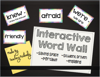 Interactive Word Wall~EDITABLE