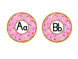 Interactive Word Wall Letters: Donut-theme and Pennants