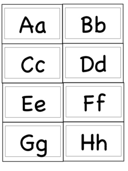 Interactive Word Wall Letters (mini index card size)