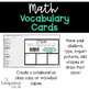 Interactive Word Wall Math Vocab Cards & Digital: Financial Literacy and Money