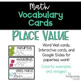 Interactive Word Wall Math Vocabulary Cards & Digital Card