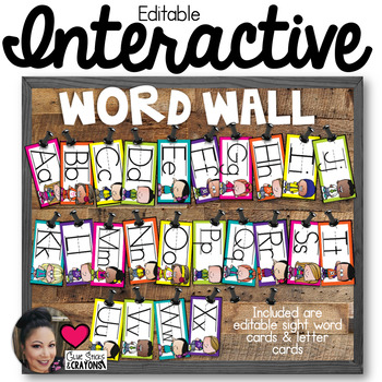 Interactive Word Wall Set *Melonheadz*Editable*