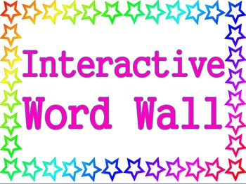 Stars Theme - Interactive Word Wall Poster