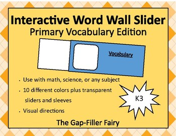 Interactive Word Wall Slider - Vocabulary Words - FREE