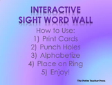 Interactive Word Wall Words