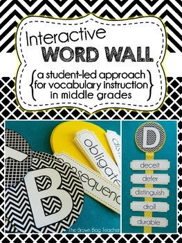 Interactive Word Wall For Middle Grades Student Led