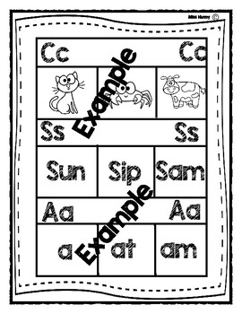 Interactive Word Work Book: Beginning Sounds