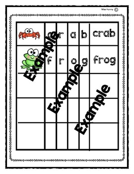 Interactive Word Work Book: Building 4 Letter Words
