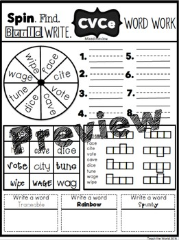 Interactive Word Work (CVCe)
