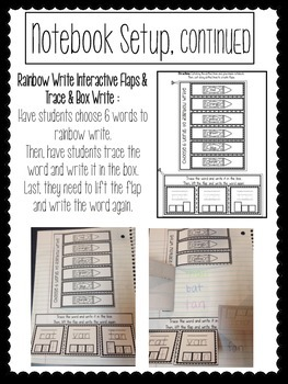 Interactive Word Work Notebook *Mixed Short-Vowel Families*