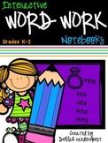 Interactive Word Work Notebooks