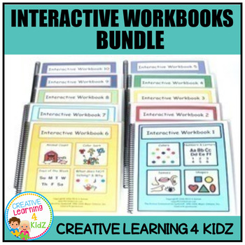 Interactive Workbook Bundle (10 Books) Autism Special Education