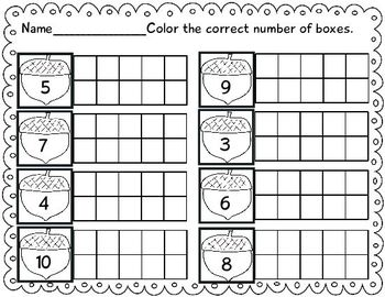 Interactive Worksheet Bundle: Fall Themed 201 pgs. Math and Literacy