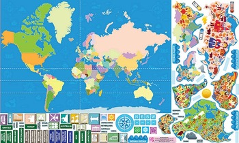 Interactive World Map Wall Play Set