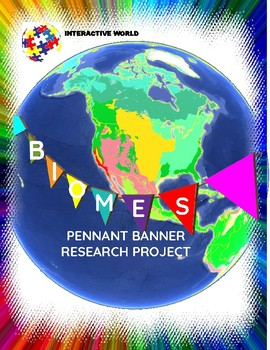 Interactive World Terrestrial Biome Pennant Banner Researc