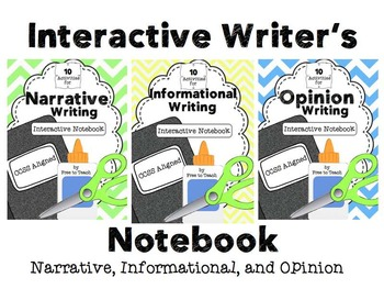 Interactive Writer's Notebook Bundle Narrative, Opinion, & Info. {CCSS Aligned}