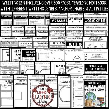 Writing Interactive Notebook FREEBIE