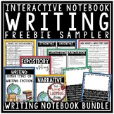 Free Writing Interactive Notebook Narrative, Expository Writing, Grammar Posters