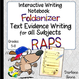 Interactive Writer's Notebook: RAPS Text Evidence Writing in All Subjects- Free!
