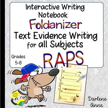 Interactive Writer's Notebook: RAPS Text Evidence Writing