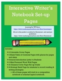 Interactive Writer's Notebook Set-Up Pages