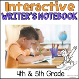 Interactive Writer's  Notebook for 4th and 5th grade