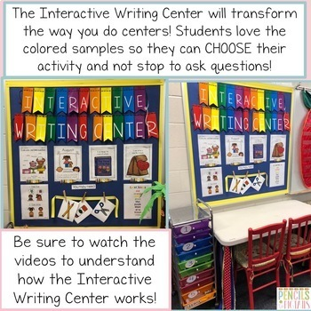 Interactive Writing Center for the Year- PreK- Second Grade-Huge Growing Bundle!