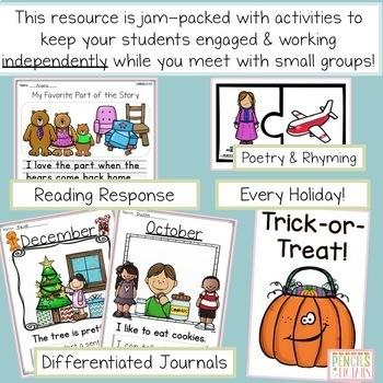 Interactive Writing Center for the Entire Year- Pre-K - 2nd Grade - Huge Bundle!