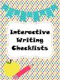 Interactive Writing Checklists