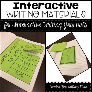 Interactive Writing Journal Materials