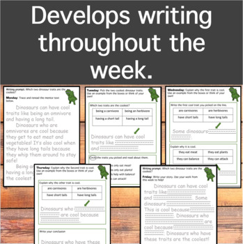 Interactive Writing Journal- Alligator Prompt