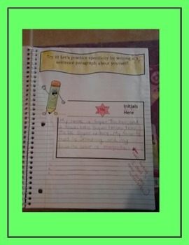 Interactive Writing Notebook- 4th Grade