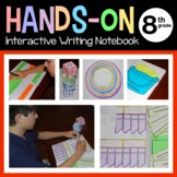Interactive Writing Notebook Eighth Grade Common Core with Scaffolded Notes
