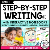 Interactive Writing Notebook Grade 1 with all Common Core Writing Standards