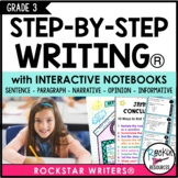 Interactive Writing Notebook Grade 3 with ALL Common Core Writing Standards