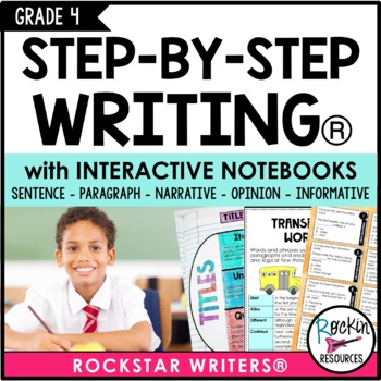 INTERACTIVE NOTEBOOK - Interactive Writing Notebook Grade 4 unit, from Rockin Resources, available on TpT