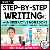 PARAGRAPH WRITING | NARRATIVE | OPINION | INFORMATIVE | INTERACTIVE NOTEBOOK 4TH