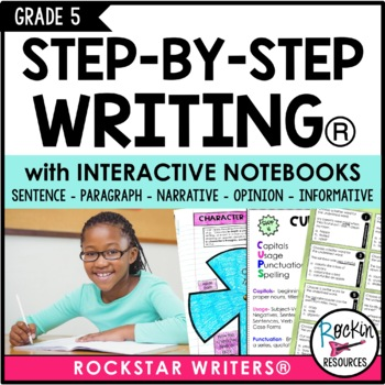 Interactive Writing Notebook Grade 5 with ALL Common Core Writing Standards