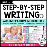 Interactive Writing Notebook Grade 6 with ALL Common Core