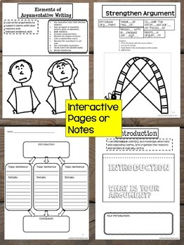 Interactive Writing Notebook Grade 7 with ALL Common Core Writing Standards