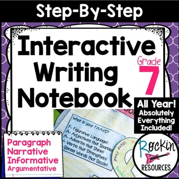 Interactive Writing Notebook Grade 7 with ALL Common Core