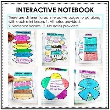 Interactive Writing Notebook BUNDLE Grades 3-5