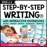 PARAGRAPH WRITING | NARRATIVE | OPINION | INFORMATIVE INTERACTIVE NOTEBOOK 6-8